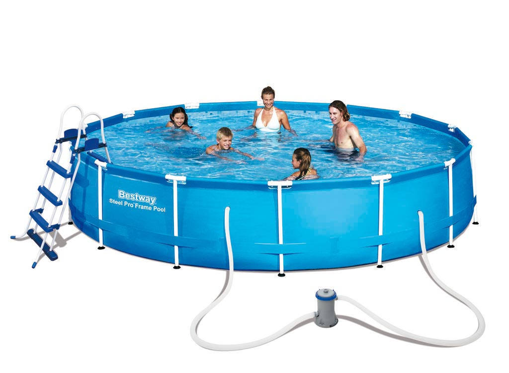 Pool / Frame Pool Bestway Steel Pro Set mit Filterpume Ø 457x91cm Bild 1
