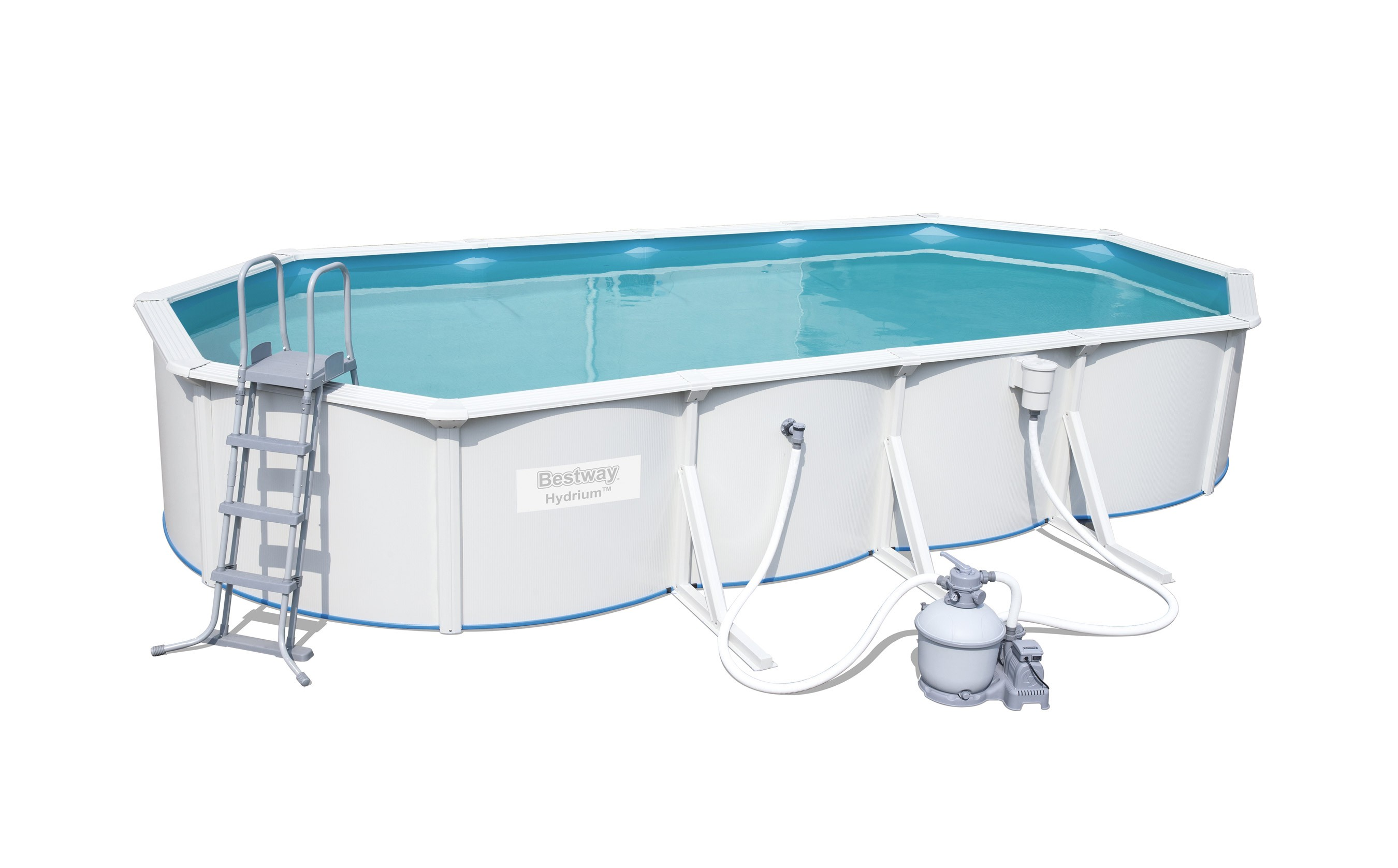 Pool / Stahlwandpool Bestway Hydrium Pool Set Sandfilter 740x360x120cm Bild 1