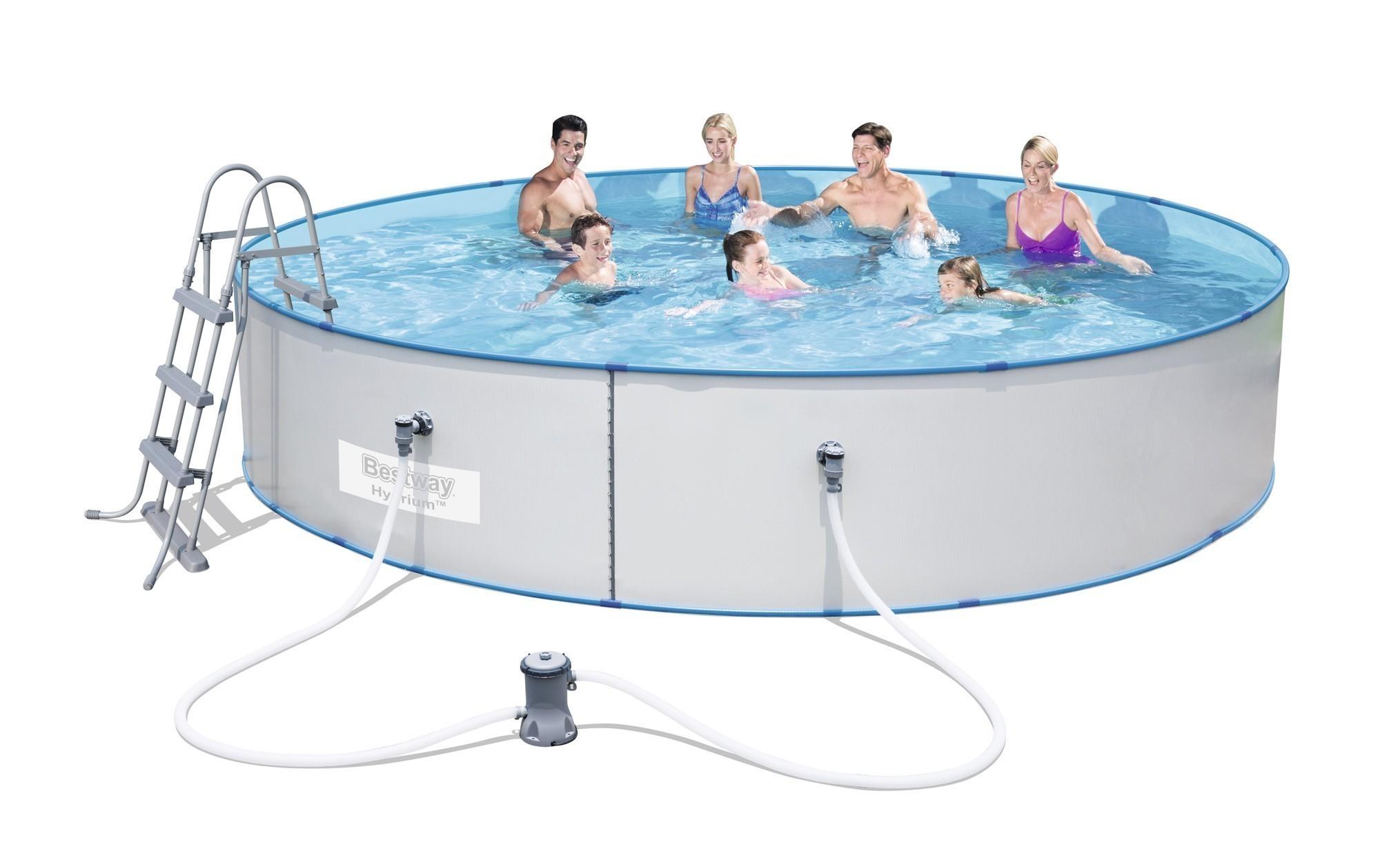 Pool stahlwandpool bestway hydrium splasher set for Poolfolie 460 x 90