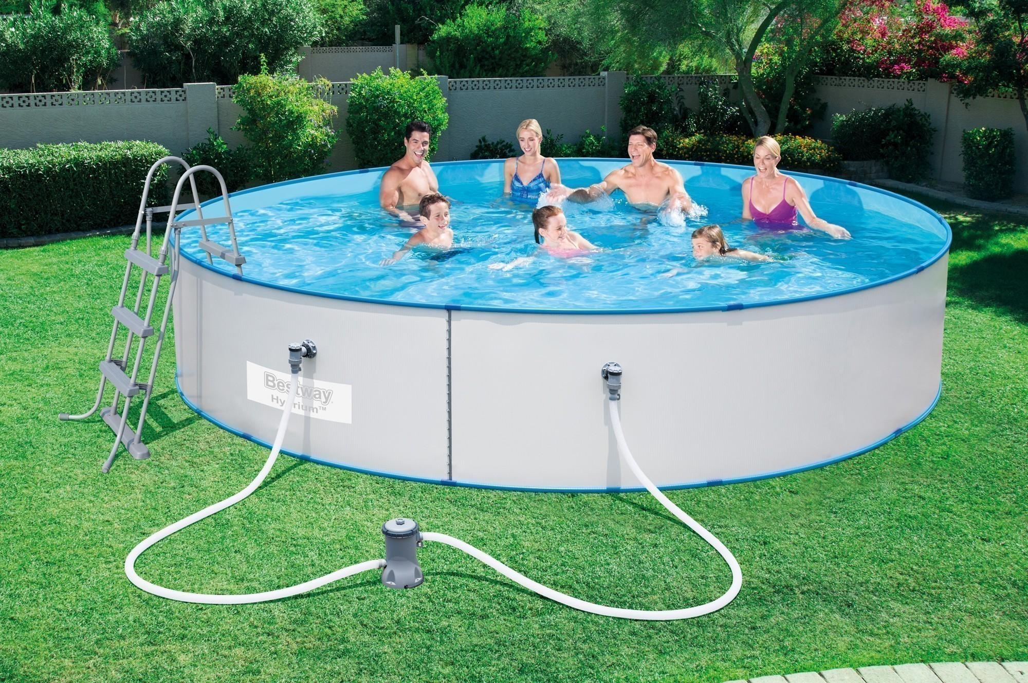 Pool / Stahlwandpool Bestway Hydrium Splasher Set + Zubehör 460x90cm Bild 2