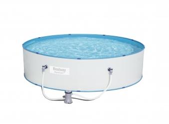 Pool / Stahlwandpool Bestway Hydrium Splasher Set Filterpumpe Ø330x84 Bild 1