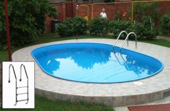 Pool / Stahlwandpool Set myPool Premium Ovalbecken 700x350x120cm Bild 1