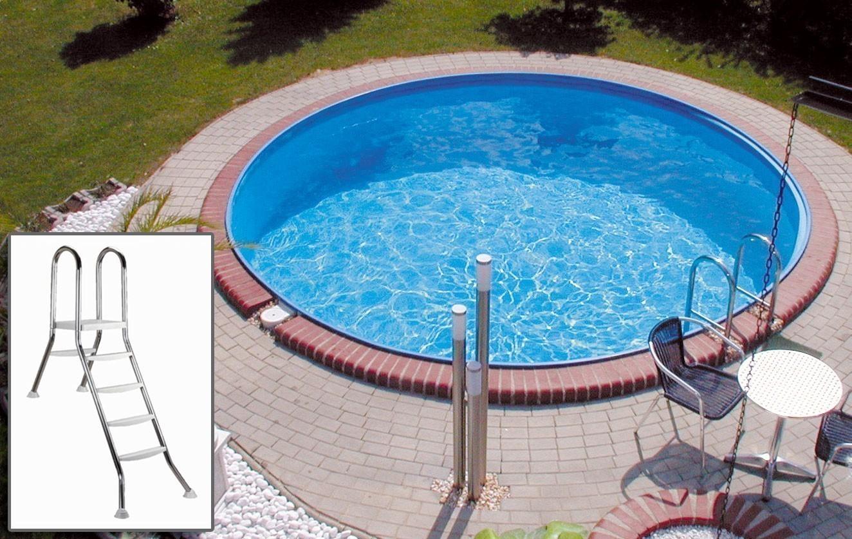 Pool / Stahlwandpool myPool Premium Halbhochbeckenleiter Ø 450x120cm Bild 1