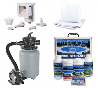 Pool / Stahlwandpool myPool Splash Set Sandfilter Ø 360x90cm Bild 2