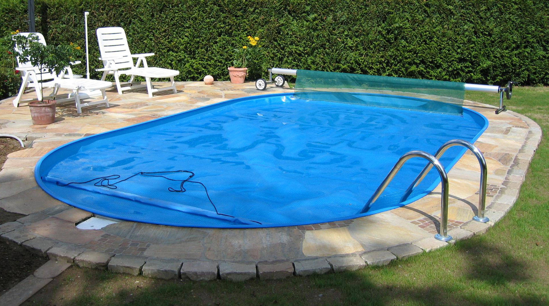Pool schwimmbecken trend oval mit sandfilter 5 00x3 00x1 for Stahlwandpool pool