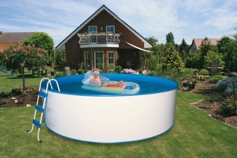 Pool / Stahlwandpool myPool Trend rund Kartuschenfilter Ø 350x120cm Bild 1