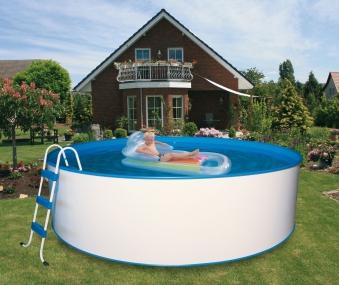 Pool / Stahlwandpool myPool Trend rund Kartuschenfilter Ø 450x120cm Bild 1