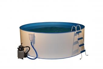 Pool / Stahlwandpool myPool Trend rund Sandfilter Ø 450x120cm Bild 1