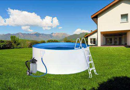 Swimmingpool / Stahlwandpool myPool Pool-Set Safety +Leiter Ø 350x90cm Bild 1