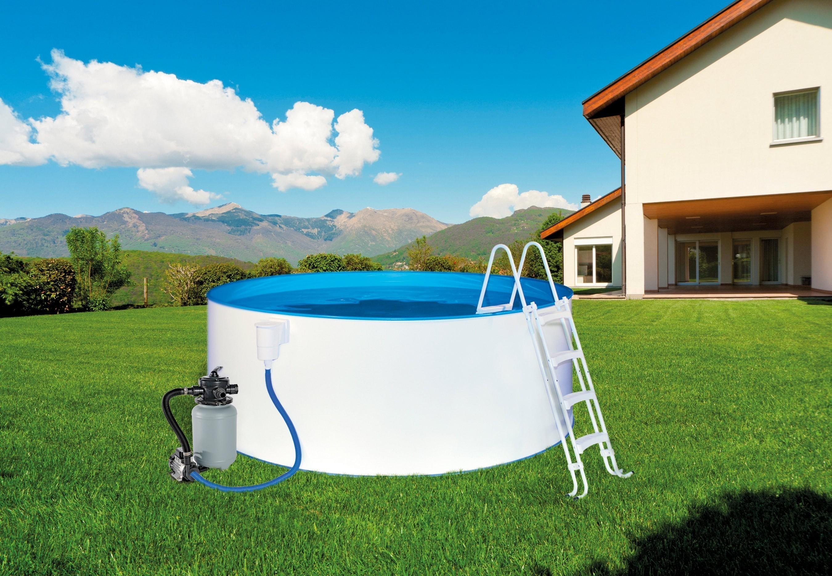Swimmingpool / Stahlwandpool myPool Pool-Set Safety +Leiter Ø 400x90cm Bild 1