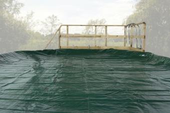 Abdeckplane für Weka Pool 593 grün 310x310cm Bild 1