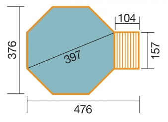 Massivholz-Schwimmbad Weka 593 B Gr.1 Sparset 476x376 Ø 397cm Bild 2