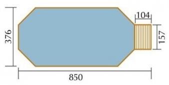 Massivholz Schwimmbad Weka 594 Gr. 2 Sparset 850x376cm Bild 2
