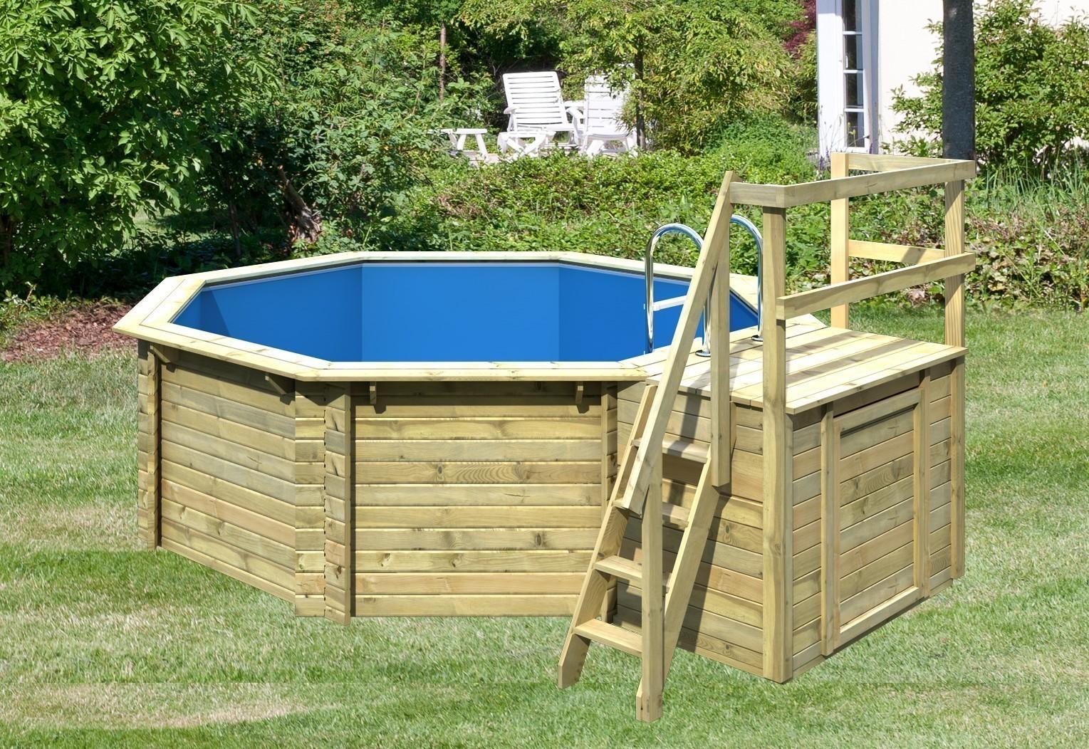 Karibu Pool Classic Modell 1 Variante B kdi 400x480cm Bild 1