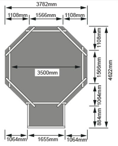 Karibu Pool Classic Modell 1 Variante B kdi 400x480cm Bild 3