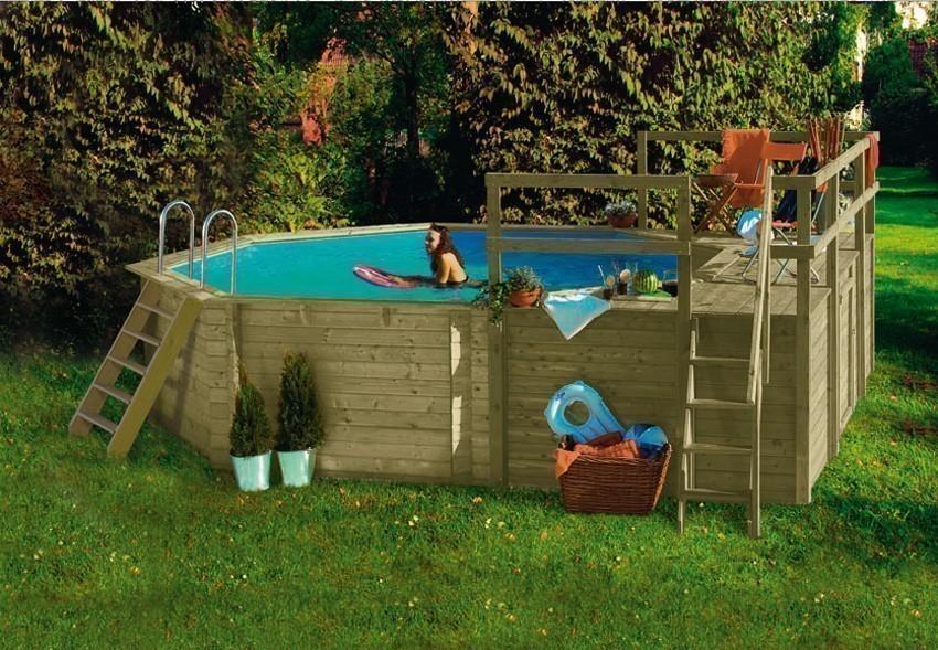 Karibu Pool Classic Modell 1 Variante D kdi  400x480cm Bild 1