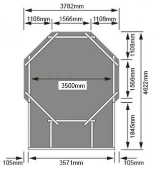 Karibu Pool Classic Modell 1 Variante D kdi  400x480cm Bild 3