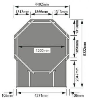Karibu Pool Classic Modell 2 Variante D kdi 470x550cm Bild 3