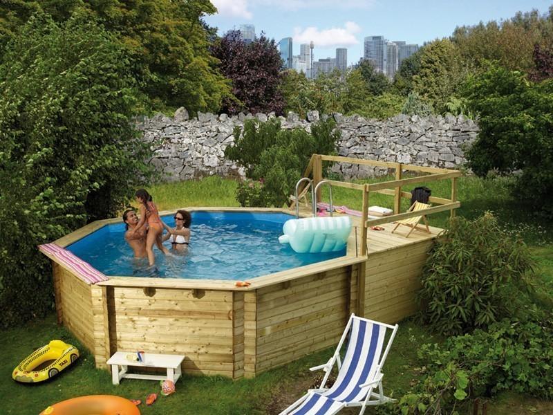 Karibu pool modell 2 variante d kdi 550 cm bei for Gartenpool selber bauen