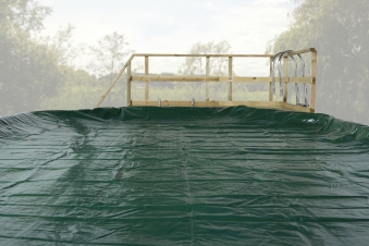 Abdeckplane für Weka Pool 593 A und B Gr.1 grün 376x476cm Bild 1