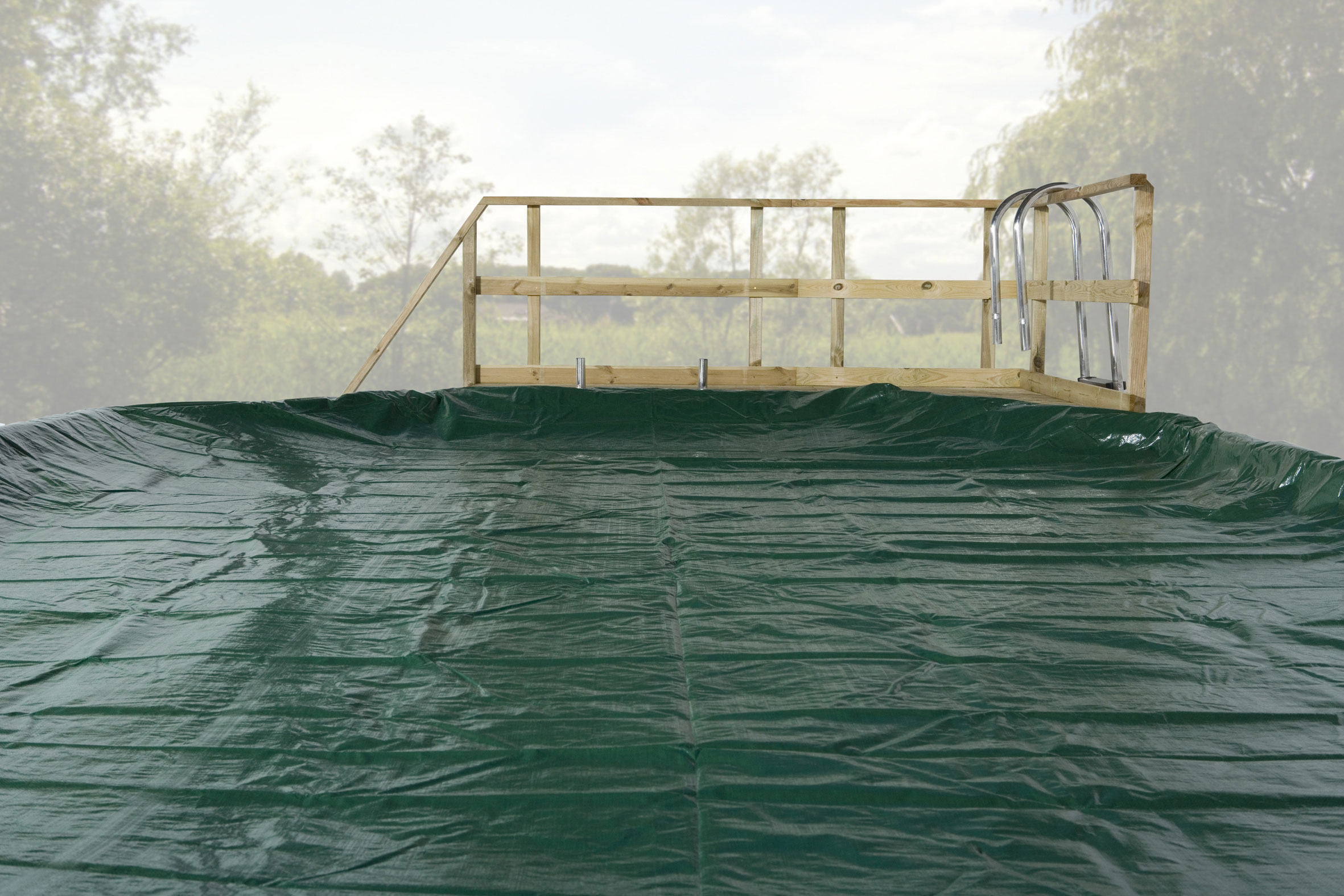 Abdeckplane für Weka Pool 594 Gr.1 grün 714x376cm Bild 1