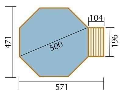 Massivholz-Schwimmbad Weka 593 B Gr.2 Sparset 571x471 Ø 500cm Bild 2