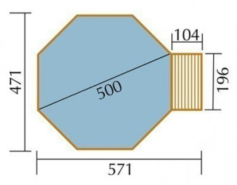 Massivholz-Schwimmbad Weka 593B Gr. 2 571x471cm Ø 500cm Bild 2