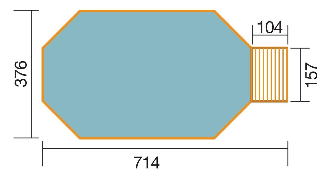 Massivholz Schwimmbad Weka 594 Gr. 1 Sparset 714x376cm Bild 2