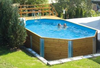 Massivholz Schwimmbad Weka 594 Gr. 1 Sparset 714x376cm Bild 1