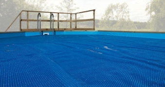 Wärmeplane für Weka Pool Capri / Korsika 1 blau 476x376cm Bild 1