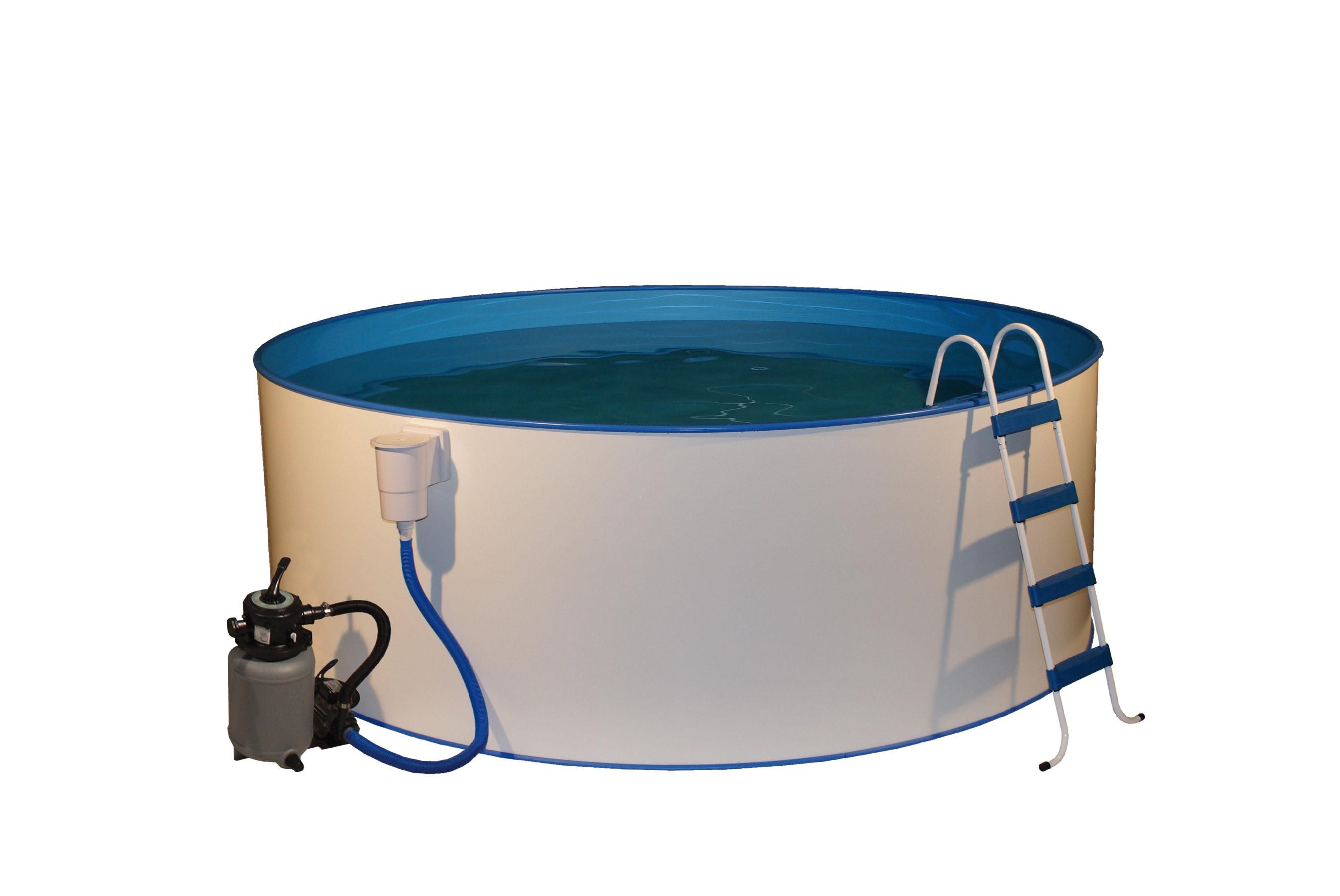 Pool schwimmbecken trend rund mit sandfilter 4 50x1 20m bei - Pool mit sandfilter ...