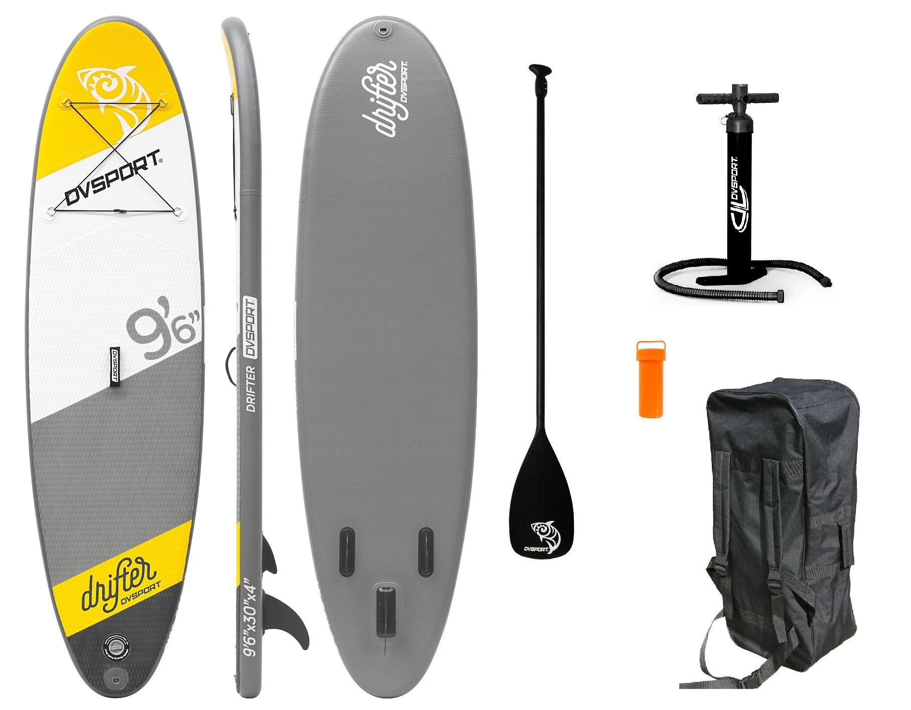 SUP DVSport 22205 Stand-Up-Paddle-Set Drifter aufblasbar 290x75x10cm Bild 1