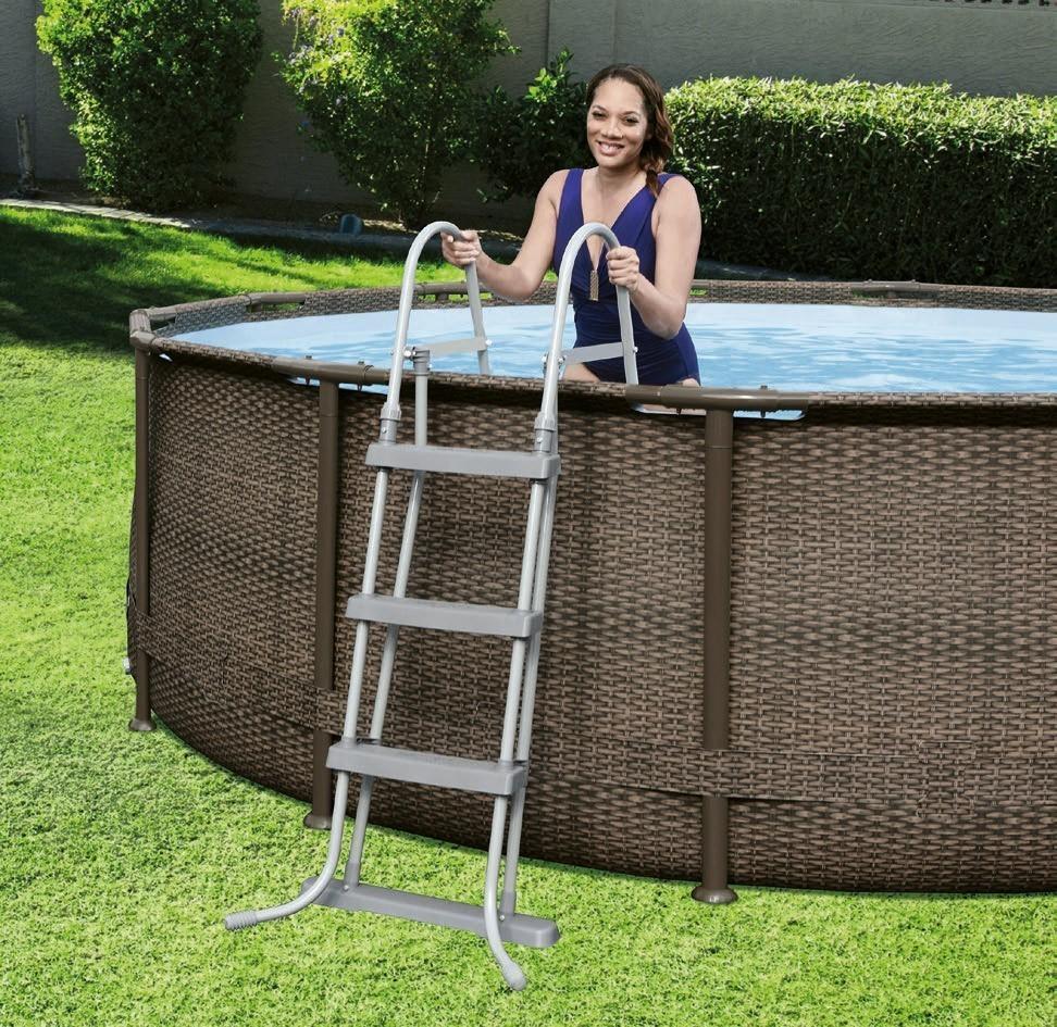 poolleiter sicherheitsleiter bestway pool 122cm 4 stufen. Black Bedroom Furniture Sets. Home Design Ideas