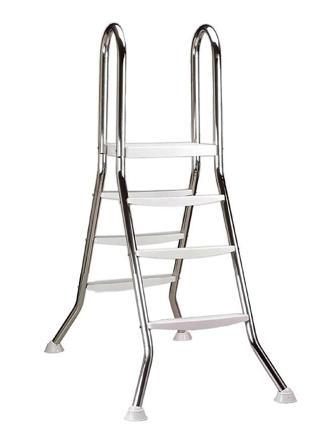 pool leiter edelstahl hochbeckenleiter 90 100cm 3 stufen bei. Black Bedroom Furniture Sets. Home Design Ideas