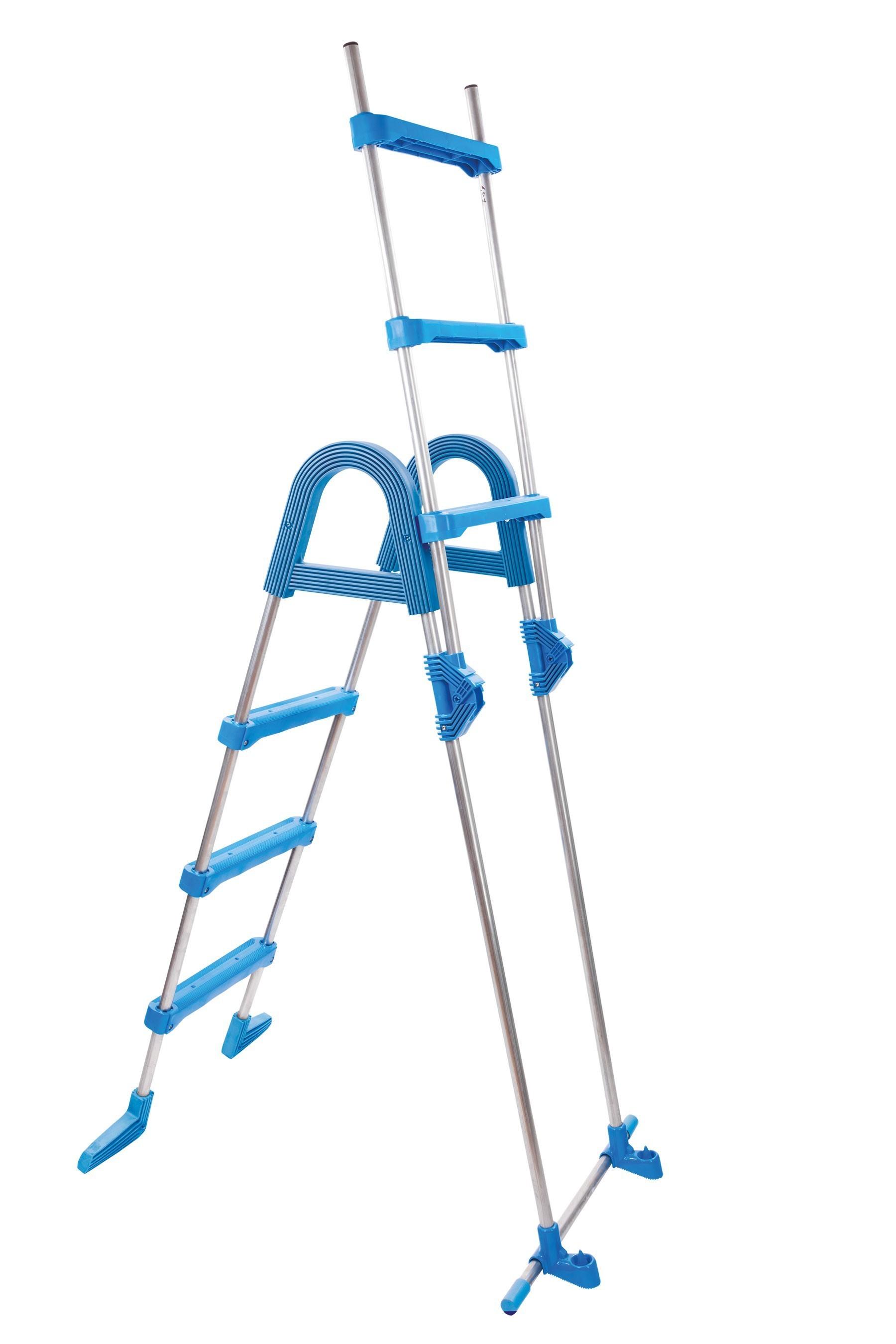 myPool Poolleiter / Sicherheitsleiter Edelstahl 0,90m 2x3 Stufen Bild 2