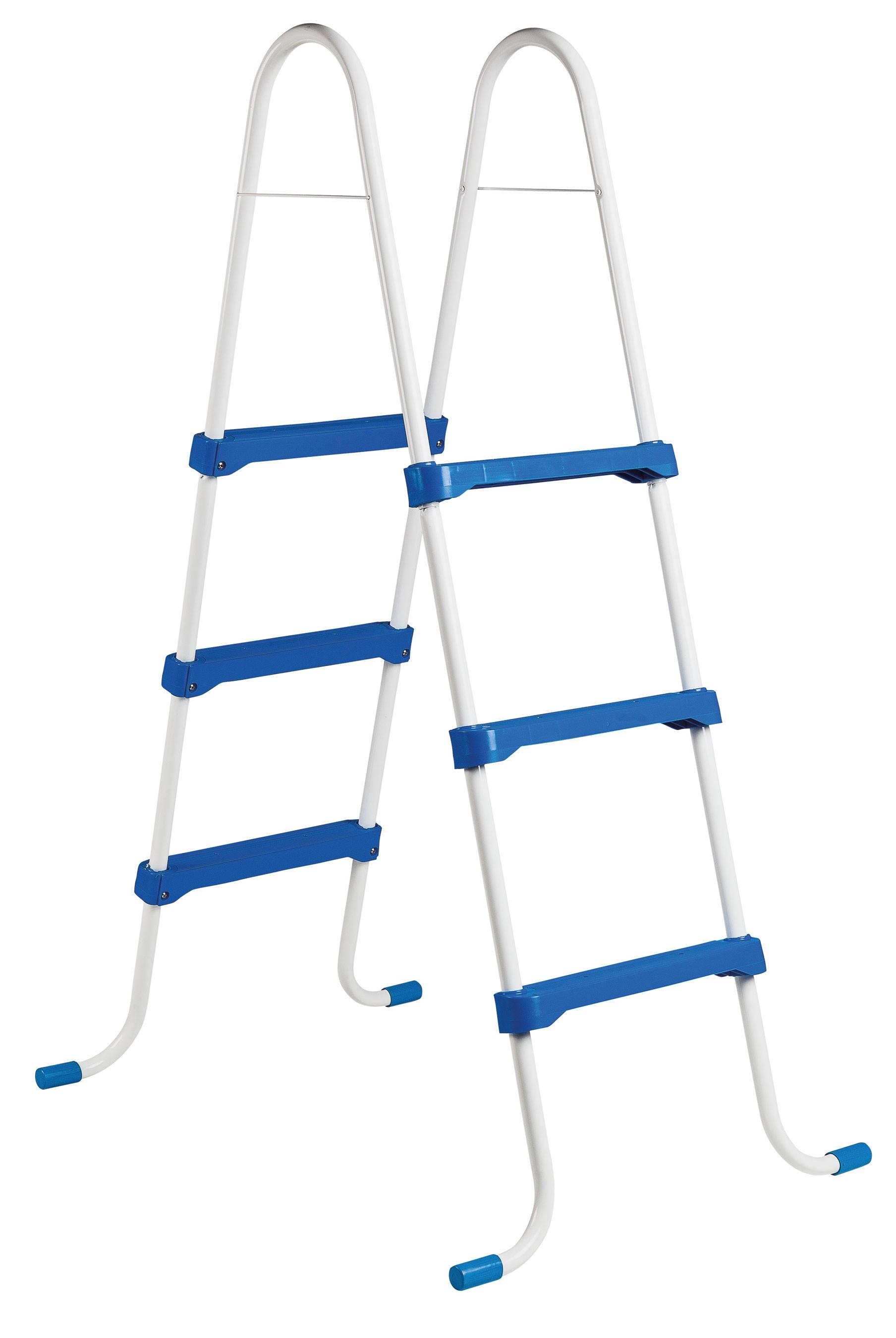 myPool Poolleiter / Stahlrohrleiter Normkonform 0,90m 2x3 Stufen Bild 1