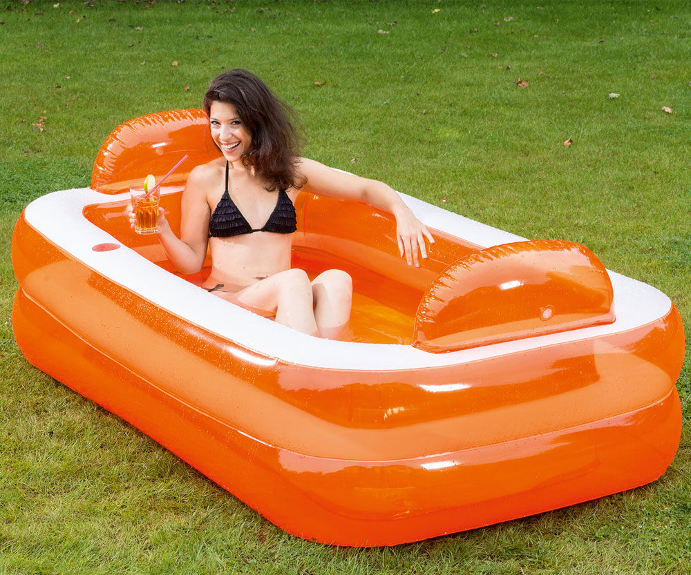 Planschbecken Family Pool Happy People Relax & Genießer Pool 195x122cm Bild 1