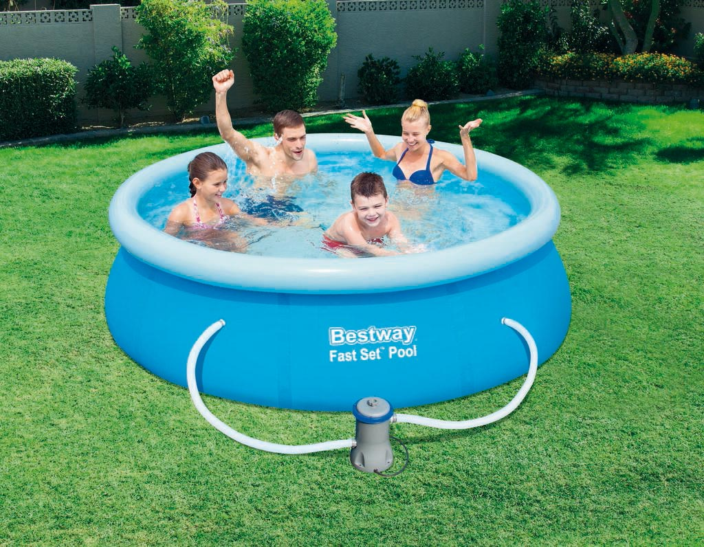 pool fast set quick up pool bestway set mit filterpumpe. Black Bedroom Furniture Sets. Home Design Ideas