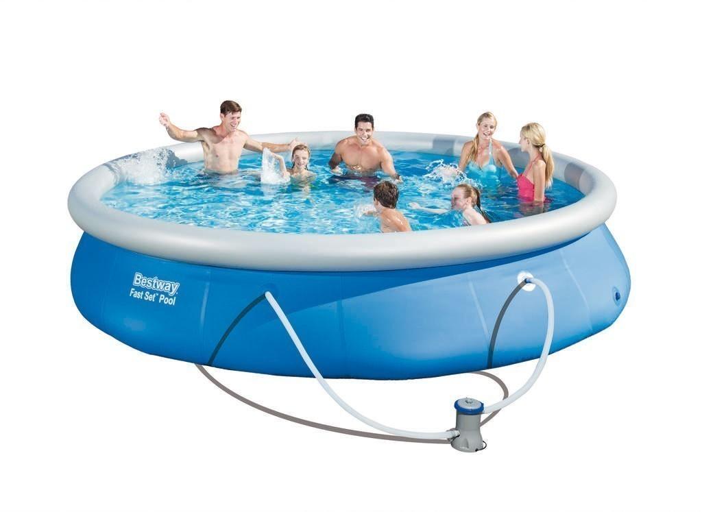 Pool / Fast Set Quick Up Pool Bestway Set mit Filterpumpe Ø457x84cm Bild 1