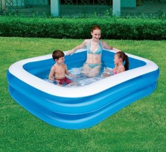 Schwimmbecken Bestway Family Pool Rectangular 201x150x51cm Bild 1
