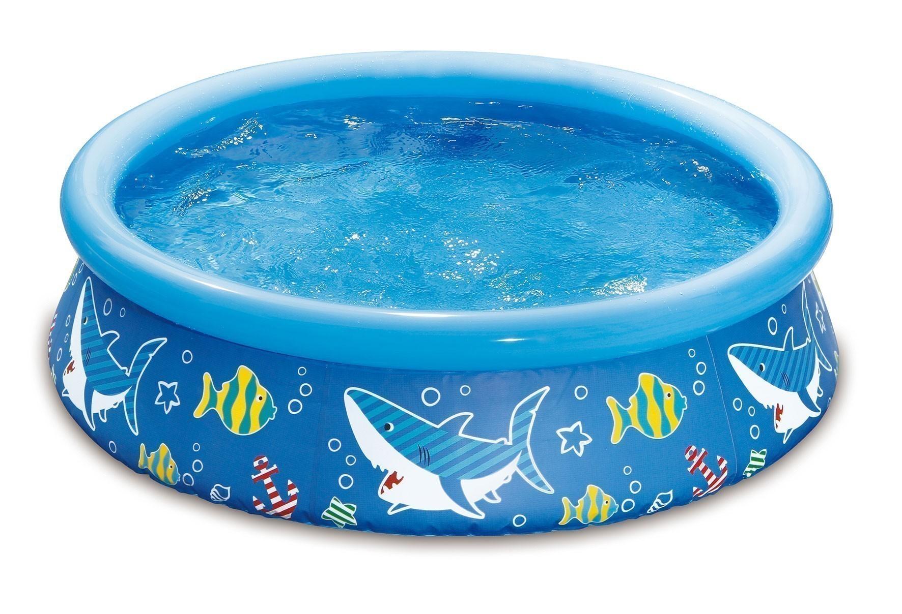 mypool Pool Simple Kinderpool Shark Haioptik Ø152x38cm Bild 1