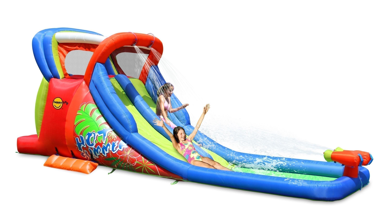 Happy Hop Hüpfburg / Wasserrutsche Hot Summer 605x210cm Bild 1