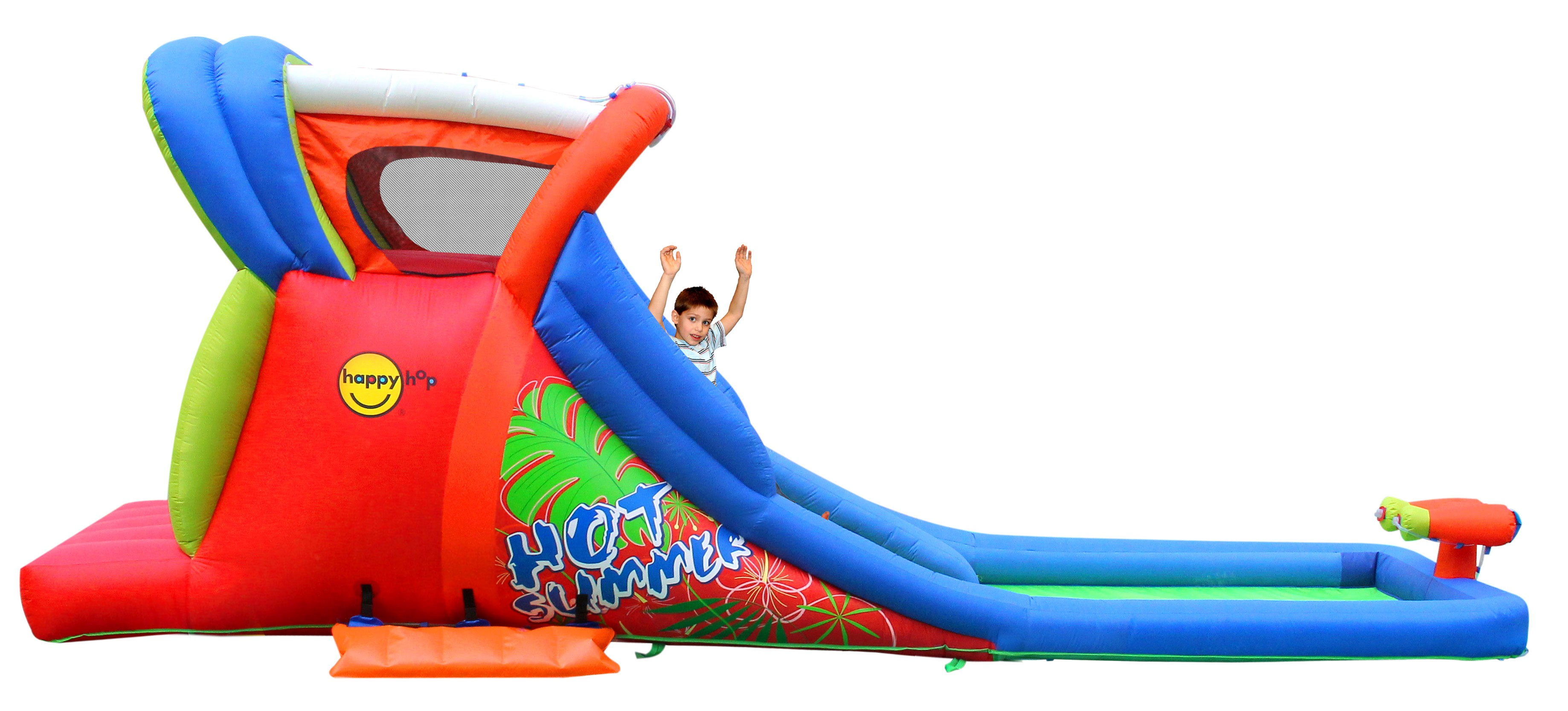 Happy Hop Hüpfburg / Wasserrutsche Hot Summer 605x210cm Bild 2