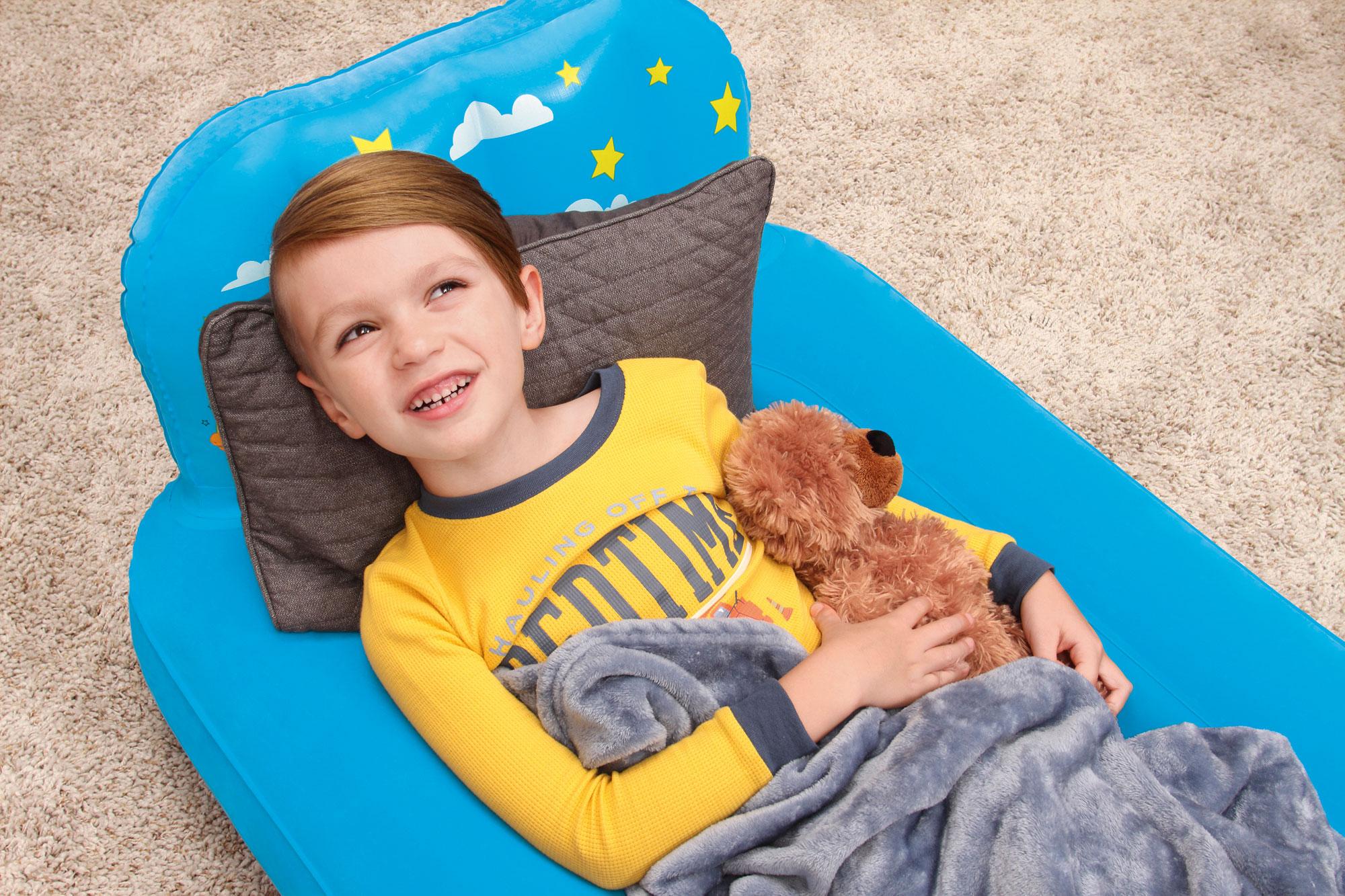Luftbett Kinder Bestway Traumlicht LED 132x76x46cm farbig sortiert 1x Bild 1