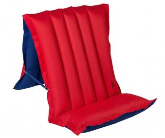 Luftmatratze / Sitz-Liegematratze blau/rot 198x72cm Bild 1