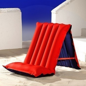Luftmatratze / Sitz-Liegematratze blau/rot 198x72cm Bild 2