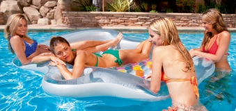 Luftmatratze / Wassermatratze Bestway Doppel Designer Lounge 216x178cm Bild 2