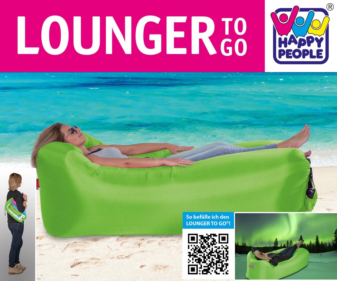 Luftsofa / Luftliege Lounger To Go 240x70cm grün Happy People 78094 Bild 2