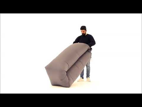 Luftsofa / Luftliege Lounger To Go 240x70cm grau Happy People 78095 Video Screenshot 2606