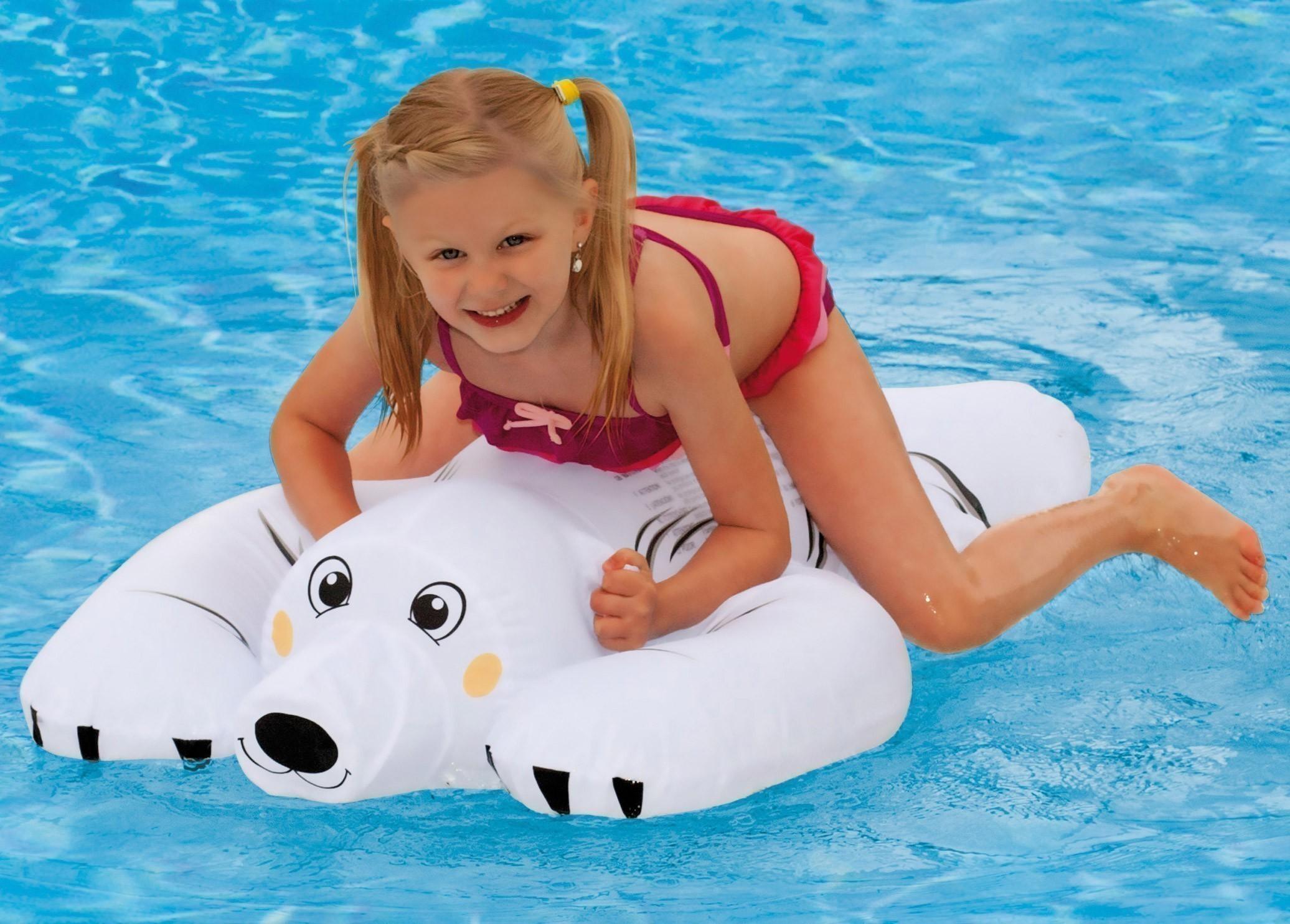 Reittier Wehncke Eisbär / Wasserspielzeug aufblasbar Bild 2